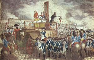 Louis XVI décapité par la guillotine