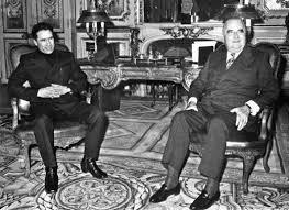 Muammar Gaddhafi et Georges Pompidou, à l'Elysée, en 1973