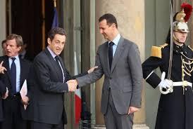 XXI 6 - Nicolas Sarkozy et Bachar El Assad, à Paris, jlt 2008 ; guerre contre la Syrie et son président (2011-2016)