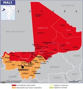 1 - Carte du Mali - mai 2015