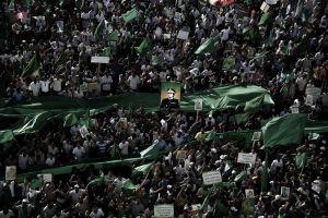 XXXI 1 - Manifestations de soutien à Muammar Gaddhafi, Place Verte, 1er Juillet 2011, Tripoli (Libye)