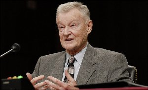 Zbigniew Brzezinski, former National Security Adviser under former U.S. President Jimmy Carter, testifies at a Senate Foreign Relations Committee on remaining U.S. policy options in Iraq, Feb. 1, 2007 in Washington, D.C. Photographer: Carol T. Powers/Bloomberg News