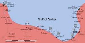 III 13. Le village de Qasr Abou Hadi (au sud-est de Syrte), près duquel est né M. Gaddhafi