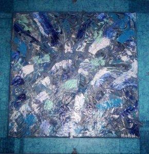 III 9 - Arthur Mottin - Miroir brisé - Peinture acrylique sur toile au couteau