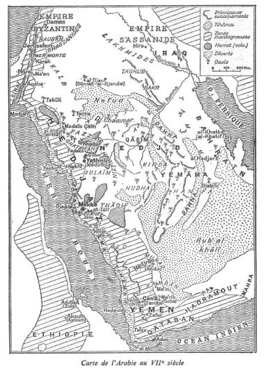 14-2-arabie-au-viie-siecle-avec-mekke-la-mecque-et-yathrib-medine
