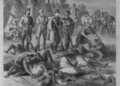1 - Massacre des tribus millénaires vivant sur les vastes territoires entre les deux mers (Atlantique et Pacifique)
